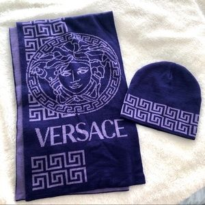 VERSACE *LIKE NEW* scarf & hat set